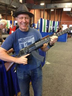 The Reverend Horton Heat digs the HiTone AK-47 Guitar.