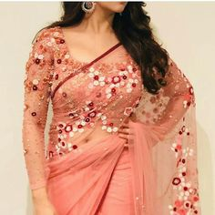 Bhavana in saree bold beauty Indian Blouse Designs, Kerala Saree Blouse Designs, Saree Blouse Patterns, Bridal Blouse Designs, Blouse Neck Designs, Kurti Patterns, Dress Designs, Indian Beauty Saree, Indian Sarees