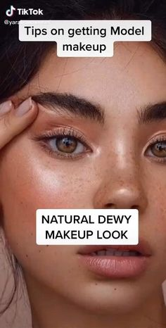 Natural Dewy Makeup, Dewy Makeup Look, Skin Makeup, Makeup Art, Natural Everyday Makeup, Makeup Ideas, Natural Beauty, Make Up Looks, Dewy Makeup Tutorial