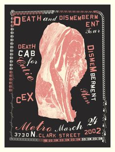 GigPosters.com - Dismemberment Plan, The - Cex by #AestheticApparatus ::: www.dutchuncle.co.uk/aesthetic-apparatus