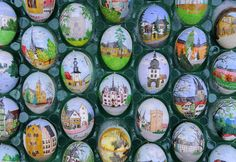 Beautifully hand-painted Easter eggs by Christa and Volker Kraft