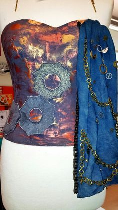 Student CR #mechanicalforms #corset #cogs #metal #machine #machineembroidery