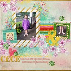 """August 2013 Scrap Pack-   """"Hey Girl"""" by Tracy Martin http://scrapstacks.com/scrappack"""