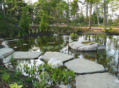 Inexpensive Walkways and Paths | concrete molds for decorative stepping stones