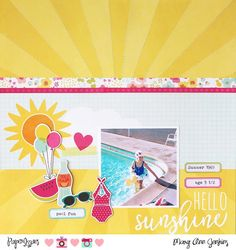 Paper Issues: Product Spotlight: Simple Stories Sunshine & Happiness @maryannjenkins