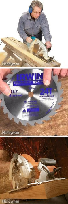 Circular Saws: Learn tips and techniques to use your circular saw like a pro. http://www.familyhandyman.com/tools/circular-saws