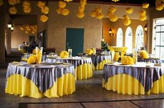 Yellow+and+Gray+Wedding+Centerpieces | Wedding Colors- Yellow and Grey