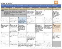 Healthy Habits Challenge Calendar | Fit Men Cook