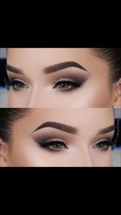 Pin by Taylor Newman on Make Up in 2019 Makeup Eye Looks, Smokey Eye Makeup, Makeup For Brown Eyes, Eyebrow Makeup, Eyeshadow Makeup, Glam Makeup, Makeup Inspo, Makeup Inspiration, Wedding Eye Makeup