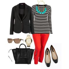Red pants are not easily picked by women. You think that they are difficult to combine with, but the truth is that there are countless ways to wear red pants and look glamorous. If you