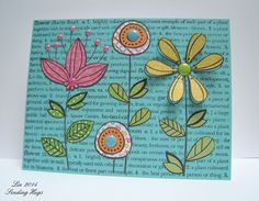 Summer Flowers; Hero Arts Flower Text, now sadly discontinued - I have it - yeah!!