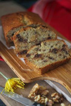 厨苑食谱: 浓郁巧克力香蕉蛋糕 (Rich Chocolate Banana Butter Cake)