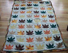 Ravelry: Maple Leaf Afghan pattern by MomsLoveofCrochet