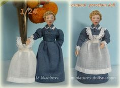 """1/24 scale doll """"Nanny or Maid"""" https://www.etsy.com/listing/170296257/124-porcelain-doll-275-nanny-or-maid?ref=shop_home_active_1"""