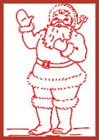 Free Redwork Pattern - December - Santa by Barbara Parrish  (And many more...)