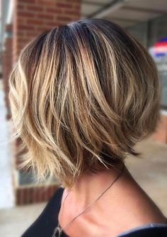 Trending Stacked Short Bob Haircuts for Women in 2019 layered bob hairstyles are fabulous.layered bob hairstyles are fabulous. Popular Short Hairstyles, Layered Bob Hairstyles, Hairstyles Haircuts, Bob Hairstyles For Thick Hair, Trending Hairstyles, Shortish Hairstyles, Hairstyle Short, Hairdos, Updos