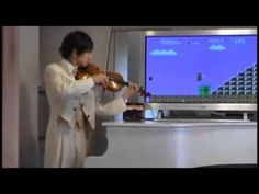 Super Mario Game Theme On Violin (Includes Sounds e.g Coin, Stomping On A Goomba, 1-UP etc.)