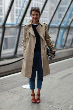 Love the trench coat.