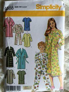 Simplicity Toddler Girls Boys Pajamas Robe Pants Top by Vntgfindz
