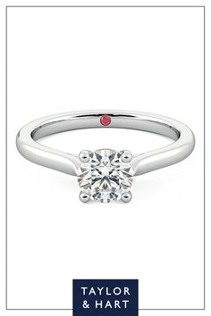 Take inspiration from our beautiful  diamond solitaire engagement ring.The Eden combines a round diamond centre with a four claw setting set in platinum. Why not repin to your own inspiration board? #engagement #engagementring #solitaire #diamond #platinum