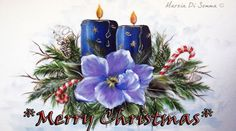 One Stroke Christmas candle One Stroke Painting, Tole Painting, Diy Painting, Painting & Drawing, Christmas Themes, Christmas Crafts, Holiday Decor, Christmas Candle, Christmas Ornaments