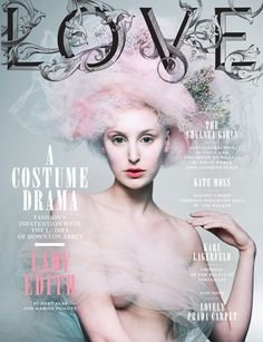 LOVE Magazine - Lady Edith with Marie Pink do!
