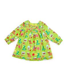 Why aren't more girl's clothing like this - feminine but not passive, weak, or sexually explicit?  Lourdes Green Park Estampado Dress