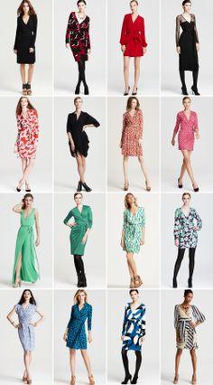 Love wrap dresses! DVF = genius