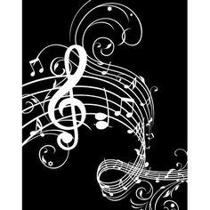 Music Notes Wall Art Print in Black and white. #blackandwhite http://www.pinterest.com/TheHitman14/music-humor-%2B/