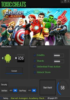 Marvel avengers academy hack cheats tool