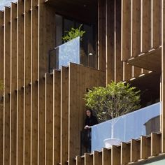 LP2+completes+Tehran+office+block+with+louvred+wooden+facades