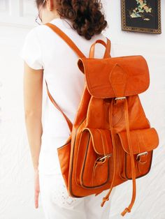 Caramel Natural Leather backpack