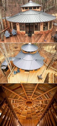 This Millennium Falcon-inspired treehouse in North Carolina is built by the ingenious team of designers and architects at Nelson Treehouse, headed by its founder Pete Nelson. Star Wars Boba Fett, Star Wars Clone Wars, Star Wars Art, Star Trek, Star Wars Action Figures, Star Wars Poster, Star Wars Humor, Millennium Falcon, North Carolina