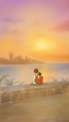 Love Cartoon Couple, Cute Cartoon Pictures, Cute Couple Art, Cute Love Pictures, Anime Love Couple, Cartoon Pics, Cute Cartoon Wallpapers, Cute Anime Couples, Cartoon Art