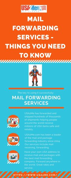 Have your own USA address to receive mail and packages with the best mail  forwarding company. Forward anywhere in the world. Great rates and service.