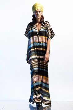 Jean Paul Gaultier Resort 2013 printed kaftan