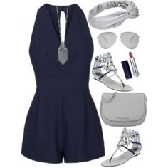 Outfit for Summer with a Playsuit