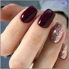 56 Glitter Gel Nail Designs For Short Nails For Spring 2019 Nailart Nageldesign Short Nail Designs, Fall Nail Designs, Art Designs, Nail Color Designs, Glitter Nail Designs, Gel Manicure Designs, Manicure Colors, Makeup Designs, Makeup Ideas