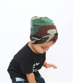 Camo | Cotton Knit Beanie