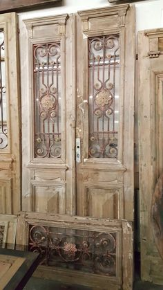 Antiquities Warehouse is an architectural salvage and preservation company specializing in antique doors, windows, and shutters from around the world. Our sq ft show room is full of ornate decor and furniture just waiting for you to explore. Antique Doors, Old Doors, Doors And Floors, Windows And Doors, Vintage Door Decor, Distressed Doors, Barn Door Designs, Farmhouse Style Bedrooms, Old Shutters