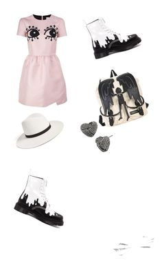 """Weird I like it ❤️"" by mimi-r-c on Polyvore featuring mode, RED Valentino, Dr. Martens, Janessa Leone et Betsey Johnson"