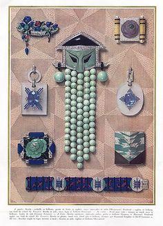 Bijoux Art Déco - Affiche - Georges Fouquet, Dusausoy, Jacques Lacloche, Roger Sandoz, Raymond Templier et Aucoc - 1927