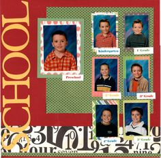 2 page Scrapbooking Layout Kit School Days by CropALatteToGo, $10.00
