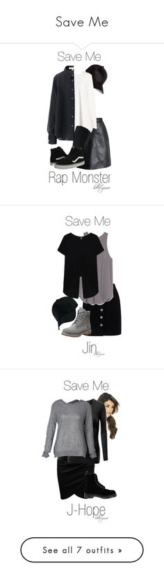 """""""Save Me"""" by hello-yume ❤ liked on Polyvore featuring River Island, Chicwish, Neiman Marcus, Uniqlo, Vans, bts, Miss Selfridge, Timberland, Doublju and Dr. Martens"""