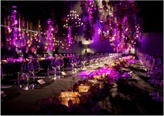 Wedding Reception Ideas: The Essence of Purple. http://www.modwedding.com/2013/03/12/under-the-candle-light-night-of-stars-title-can-be-2-lines-long-34/ #wedding #weddings #centerpiece
