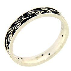 Silver and black zircons ring AMEN | online sales on HOLYART.com