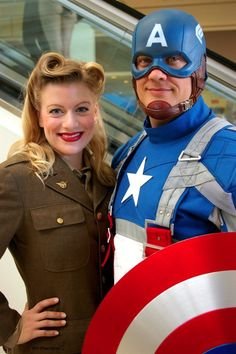 Captain America and Peggy Carter Costume