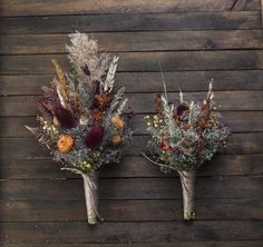 Dried flower thistle fall wedding bouquet set CUSTOM ORDER for Ashley (wedding August - Natures. Fall Wedding Bouquets, Fall Wedding Flowers, Bride Bouquets, Bridesmaid Bouquet, Autumn Wedding Decorations, Autumn Wedding Colors, Fall Wedding Place Settings, Unique Wedding Colors, Fall Wedding Bridesmaids