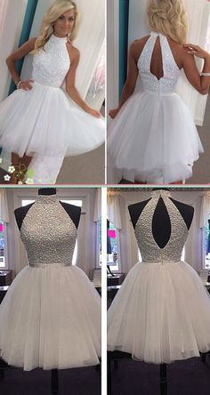 2016 homecoming dresses, short homecoming dresses, white homecoming dresses, cheap homecoming dresses, tulle homecoming dresses, dancing dresses