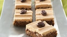With coffee infused in both the base and frosting, these bars sweetly complement either a steaming cup of coffee or a tall glass of milk!